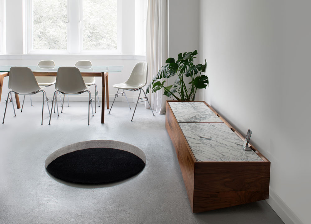Void Rug 1.4m in Lounge