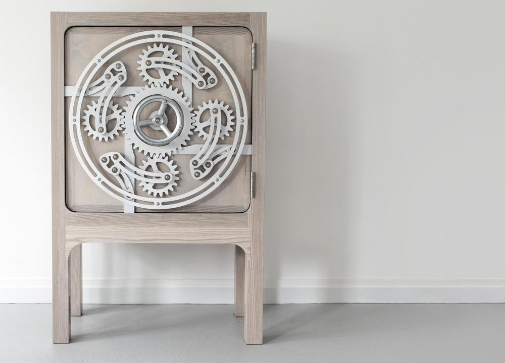 Delupo Safe Cabinet designed by Scott Jarvie- Luxury Furniture